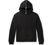 Zip-Detailed Loopback Cotton-Blend Jersey Hoodie