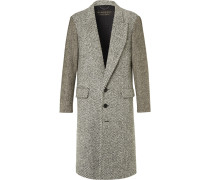 Runway Donegal Herringbone And Wool-tweed Coat
