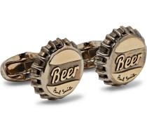 Bottle Top Burnished-copper Cufflinks