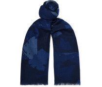 Printed Wool-Flannel Scarf