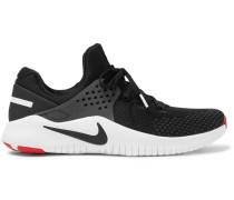 Free Tr V8 Rubber-trimmed Mesh Sneakers - Black