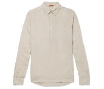 Linen Half-placket Shirt - Neutral