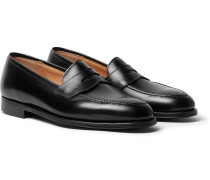 Bradley Textured-Leather Penny Loafers