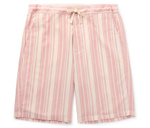 Farrow Striped Organic Cotton Pyjama Shorts