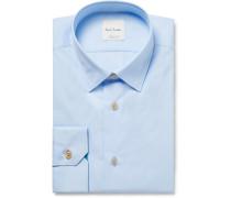 Light-blue Slim-fit Cotton-poplin Shirt - Light blue