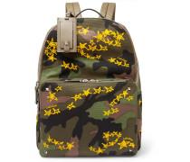 + Zandra Rhodes Valentino Garavani Camouflage Canvas Backpack