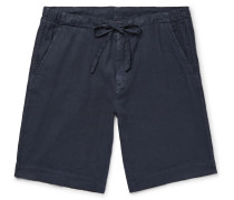 Stretch Linen And Cotton-blend Drawstring Shorts