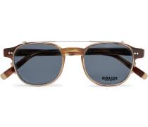 Arthur Round-frame Tortoiseshell Acetate Optical Glasses With Clip-on Uv Lenses