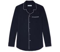 Brushed Cotton-Twill Pyjama Shirt