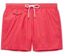 Mid-length Swim Shorts - Red