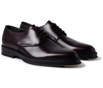 Facet Polished-Leather Derby Shoes