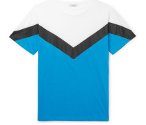 Shell-panelled Cotton-jersey T-shirt