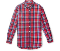 19th Century Button-down Collar Checked Cotton-flannel Shirt - Red