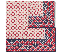 Printed Silk-twill Pocket Square - Red