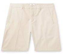 Slim-fit Cotton-twill Bermuda Shorts - Cream