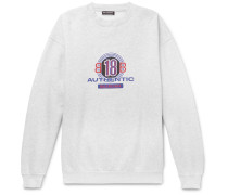 Logo-print Cotton-blend Jersey Sweatshirt