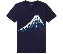 Bassen Indigo-dyed Cotton-jersey T-shirt - Blue