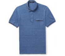 Slim-fit Mélange Linen Polo Shirt