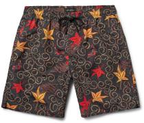 Batik Timothy Mid-length Printed Swim Shorts
