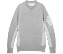 Oversized Nylon-panelled Loopback Cotton-blend Jersey Sweatshirt
