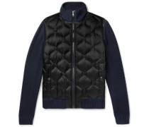 Slim-fit Panelled Quilted Shell Jacket