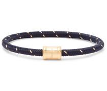 Gold-Tone, Nylon and Steel Rope Bracelet
