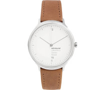 Helvetica No1 Light Stainless Steel And Leather Watch - White