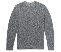 Mélange Stretch-Cotton Sweater