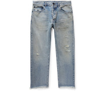 The Kane 2 Cropped Distressed Denim Jeans