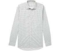 Slim-fit Paisley-print Stretch-cotton Poplin Shirt