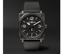 Br S 39mm Ceramic And Rubber Watch