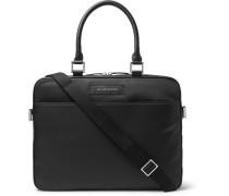 Haneda Leather-trimmed Nylon Briefcase - Black