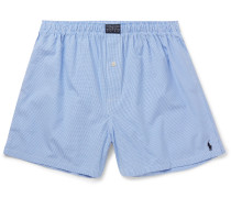Gingham Cotton Boxer Shorts