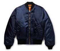 Appliquéd Shell Bomber Jacket