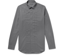 Slim-fit Pleated Cotton Shirt