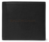 Perforated Leather Billfold Wallet - Black