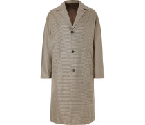 Albert Oversized Houndstooth Cotton-twill Coat