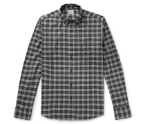 Everyday Button-Down Collar Checked Stretch-Cotton Shirt