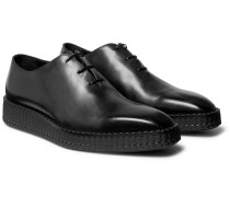 Alessandro Exaggerated-sole Leather Oxford Shoes - Black