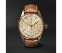 1858 Chronograph Tachymeter Limited Edition 100 44mm Bronze and Alligator Watch