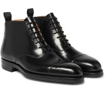 William Cap-toe Horween Shell Cordovan Leather Boots - Black