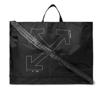 Unfinished Logo-Print Shell Tote Bag
