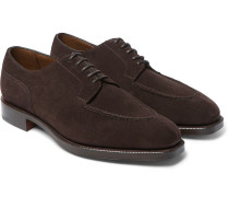 Dover Suede Derby Shoes - Brown