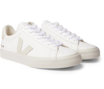 Campo Suede-Trimmed Leather Sneakers