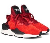 Kaiwa Neoprene-trimmed Suede Sneakers
