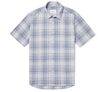 Checked Cotton-Gauze Shirt
