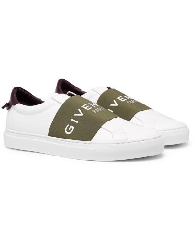Urban Street Logo-print Leather Slip-on Sneakers - White