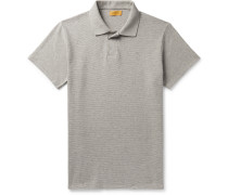 Davies Ribbed Mélange Cotton Polo Shirt