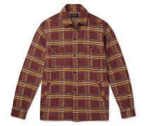Checked Wool-Flannel Overshirt