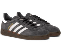 Handball Spezial Leather-trimmed Suede Sneakers - Gray
